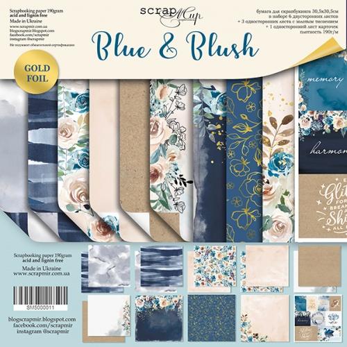 BLUE AND BLUSH - 12 x 12