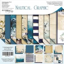 NAUTICAL GRAPHIC - 12 x 12