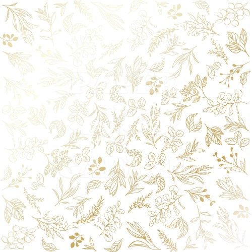 GOLDEN BRANCHES - White