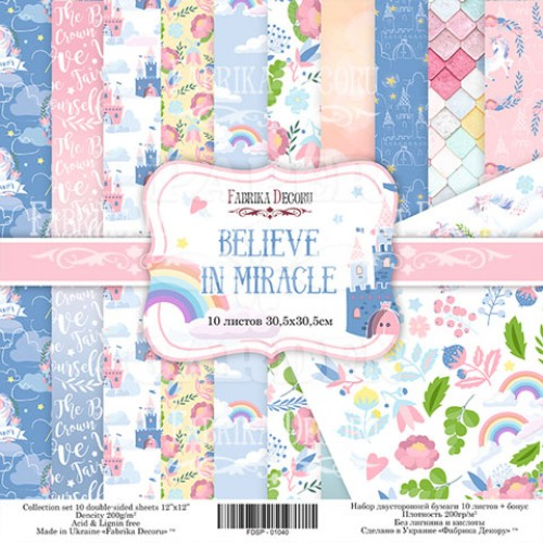 BELIEVE IN MIRACLE - 12 x 12