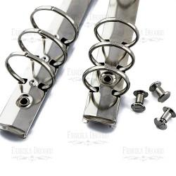 Knihařské kroužky A6 - Stříbrné
