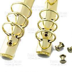 Knihařské kroužky A6 - Zlaté