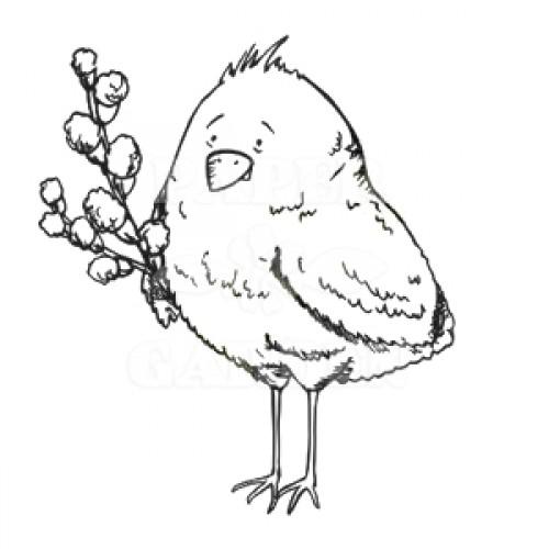 Kuřátko s větvičkami