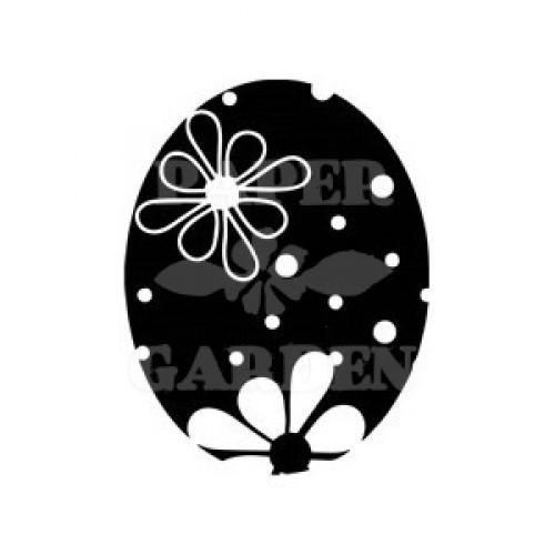 Velikonoční vajíčko - kytičky negativ