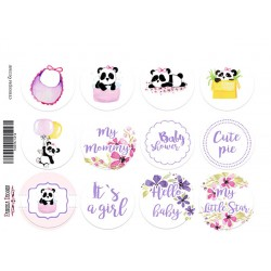 MY LITTLE BABY GIRL - Journal Stickers 01