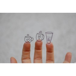 Coffee Love - transparentní