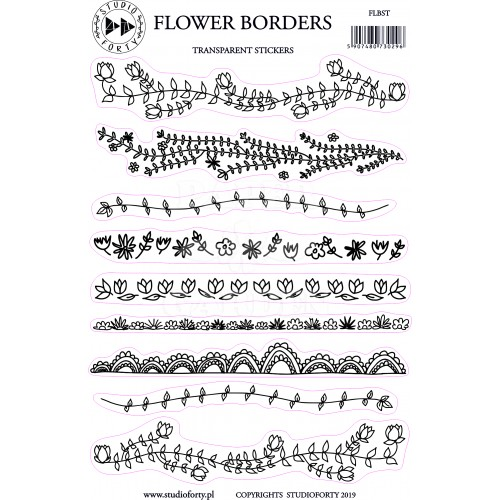 FLOWER BORDERS - transparentní