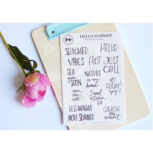 Hello Summer - transparentní