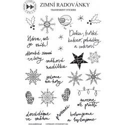 Zimní radovánky - české transparentní