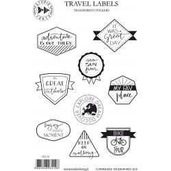 Travel Labels - transparentní (černé)
