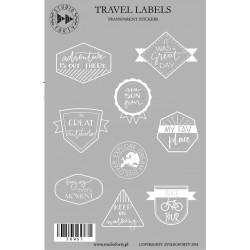 Travel Labels - transparentní (bílé)